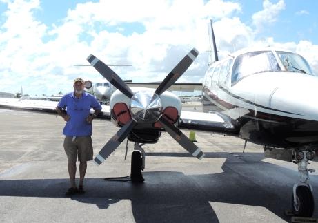 DeRosa with plane SCN3683